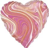 Сердце розовое, агат