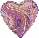 Сердце фиолетовое, агат