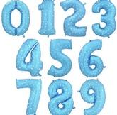 Цифры Голубые
